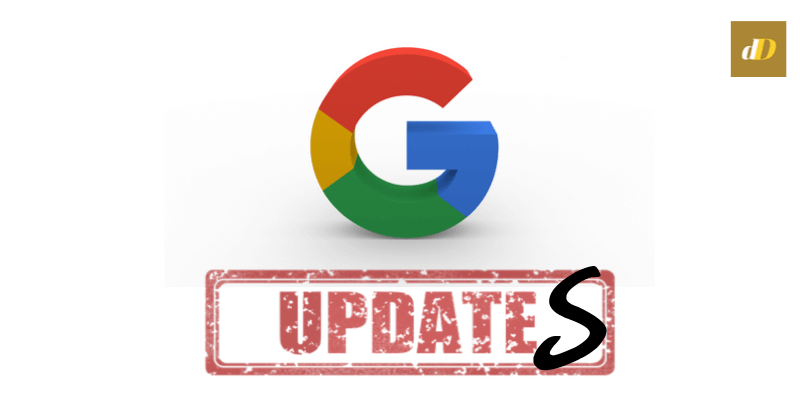 Google updates header