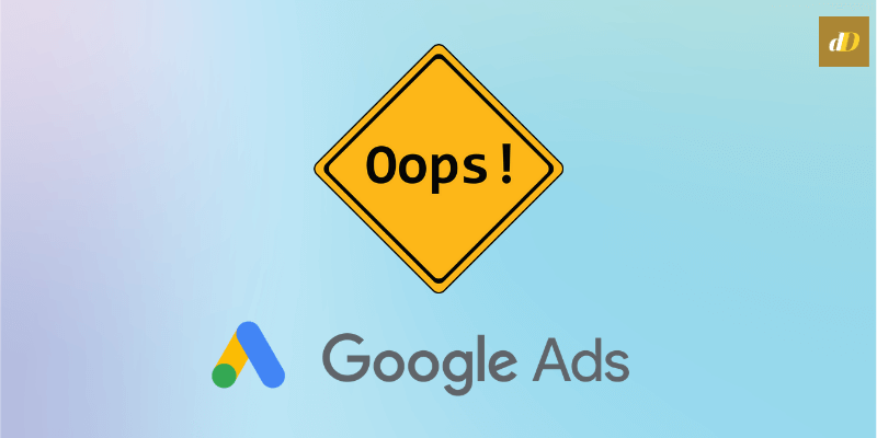 google ad mistakes header